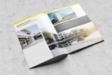 Doppelseite einer Broschüre von  Saint-Gobain Weber, aus einer Kampagne für den Fachhandel