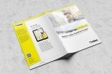 Umschlag einer Broschüre von  Saint-Gobain Weber, aus einer Kampagne für den Fachhandel